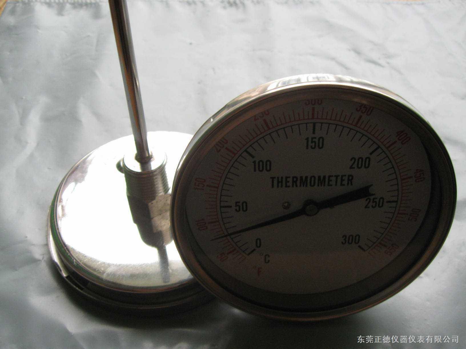 供应100MM径向带软管全不锈钢温度表