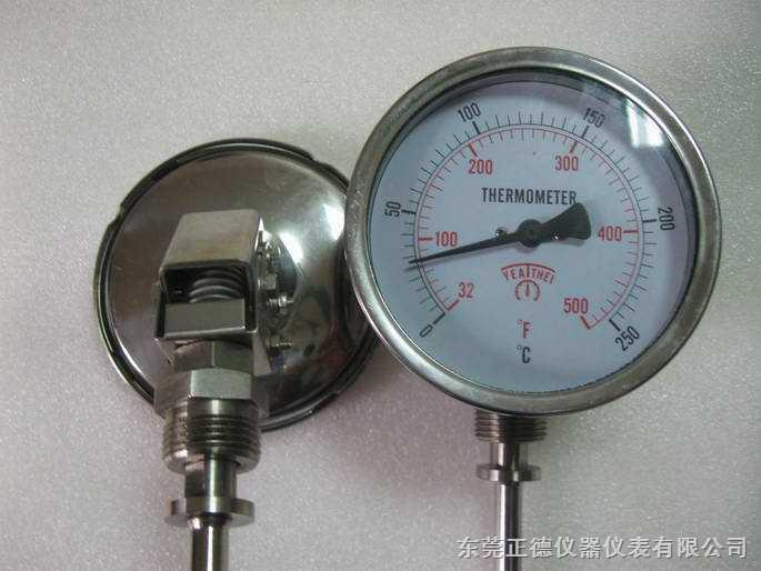 供应100MM万向型全不锈钢温度表