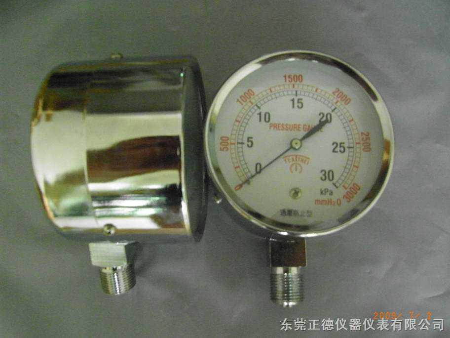 供应煤气、燃气压力表