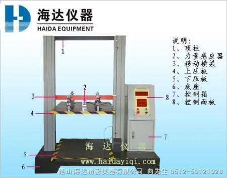 供应电脑式纸箱抗压机(普通电脑式)电脑纸箱抗压机/抗压强度试验机/纸箱抗压试验机