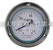 带边耐震不锈钢真空压力表
