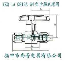YZQ-1A Q81SA-64型卡箍式球閥