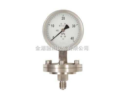 螺纹式隔膜压力表-螺纹式隔膜压力表