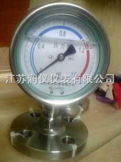 不銹鋼耐震隔膜壓力表
