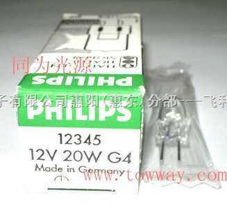PHILIPS 12345 12V20W 生化分析仪,半自动电泳仪灯泡