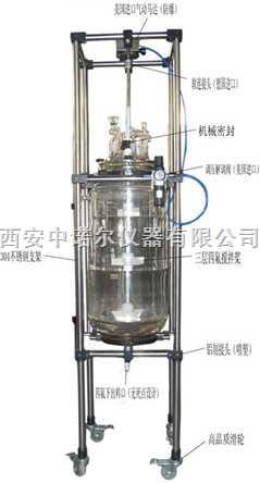 西安双层玻璃反应釜,微型高压反应釜,循环水真空泵