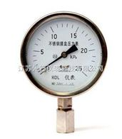 YE系列不锈钢膜盒压力表
