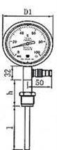 WTYY-1021工业不锈钢压力式温度计