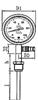 工业不锈钢压力式温度计